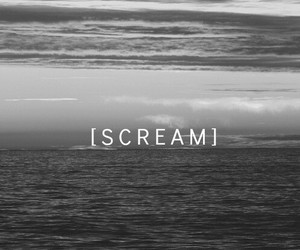 scream, sad, and sea image