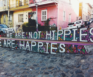 art, hippies, and colors image