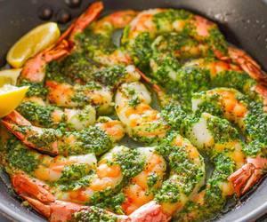 shrimp, food, and garlic image