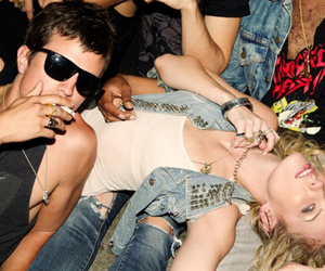 blond girl, party, and ray ban image