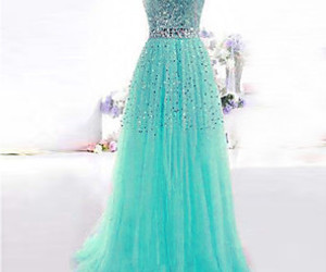 dress, long dress, and turquoise image