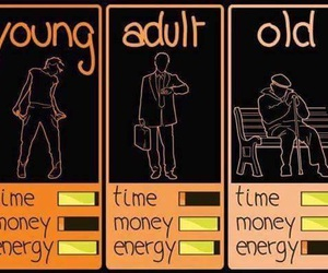 old, young, and Adult image