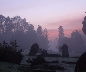 cemetery, graveyard, and gothic image