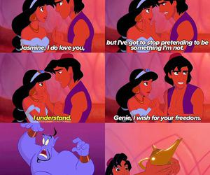 aladdin, disney, and genie image