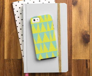 cell phone case, art retro vintage, and triangles geometric image
