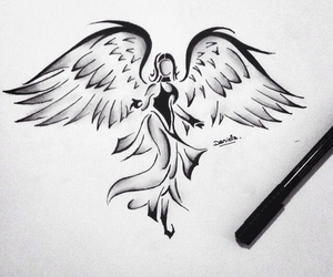angel, outline, and tumblr image