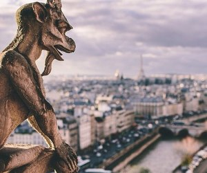 architecture, Notre Dame de Paris, and sculpture image