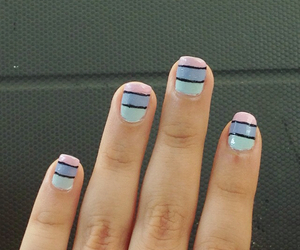 blue, pretty, and nail art image