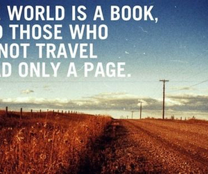 travel, quote, and book image