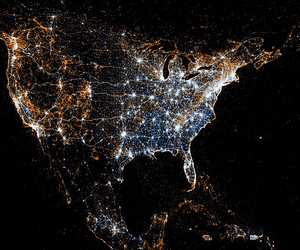 light, usa, and america image