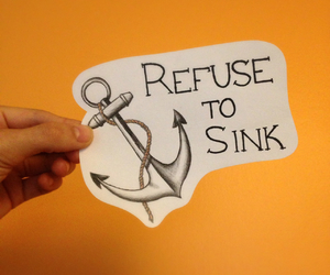anchor, drawing, and refuse to sink image