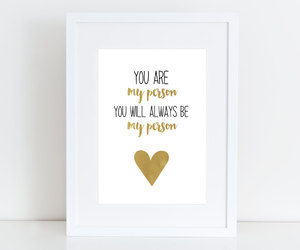 friend, gold, and print image