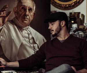 art, roberto ferri, and pope francesco image