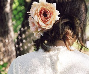 flower, fashion, and hair image
