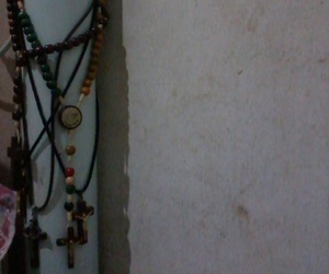 bed, crucifixes, and sadness image