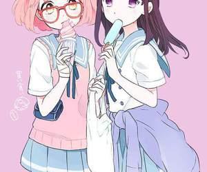 kyoukai no kanata, anime, and kawaii image