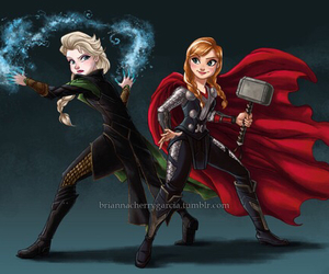 frozen, thor, and anna image
