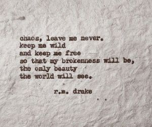 quotes, r.m. drake, and broken image