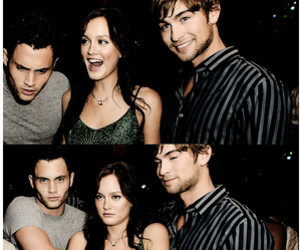 Chace Crawford, leighton meester, and blair image