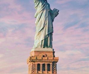 new york, city, and liberty image