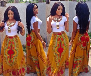 African and skirt image