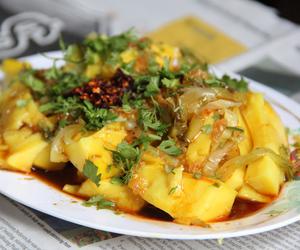 salad, beancurd, and tofu image