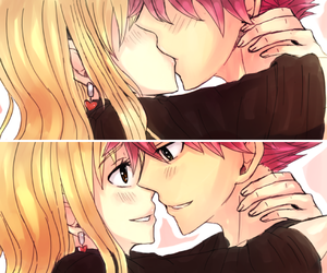 nalu, fairy tail, and kiss image