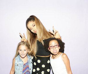 fans, kids, and ariana grande image