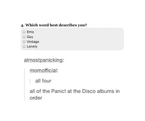 mine, P!ATD, and panic! at the disco image