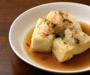 bonito, radish, and soy sauce image
