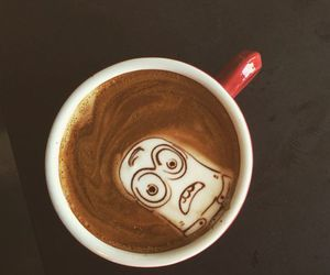 coffee, drink, and minions image