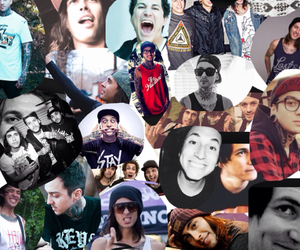 bands, Collage, and pierce the veil image