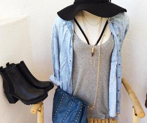 blue, boots, and boutique image
