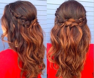 hairstyle, hair, and fashion image