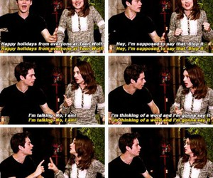 teen wolf, crystal reed, and dylan obrien image