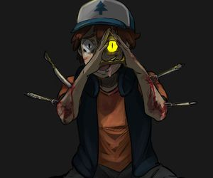gravity falls, bill cipher, and dipper image