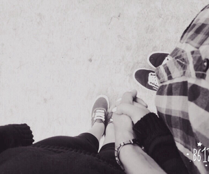 blackandwhite, couple, and shoes image