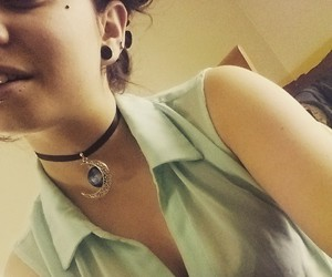 bun, choker, and collar image
