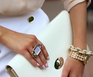 fashion, ring, and bag image