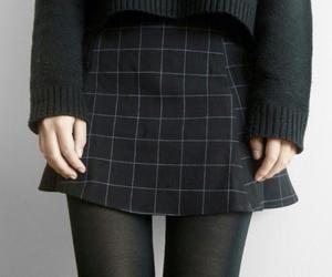 black, grunge, and skirt image