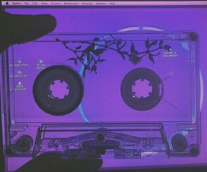 aesthetic, cassette, and glow image