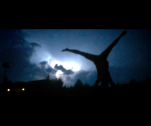 cartwheel, gymnastics, and lightning image