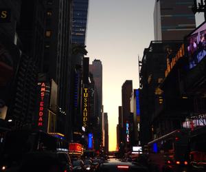 lights, manhattan, and new york image