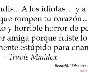 beautiful disaster, travis maddox, and book image