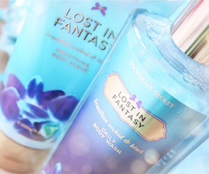 Victoria's Secret, blue, and perfume image