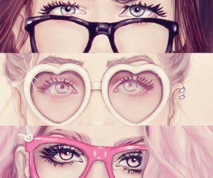 eyes, glasses, and girly_m image