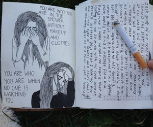 grunge, cigarette, and sad image