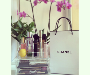 chanel, dior, and flower image