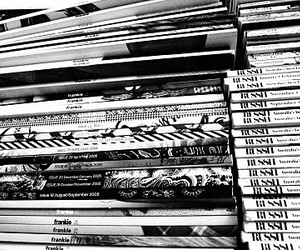 black and white, read, and fashion image