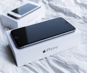 iphone, apple, and black image